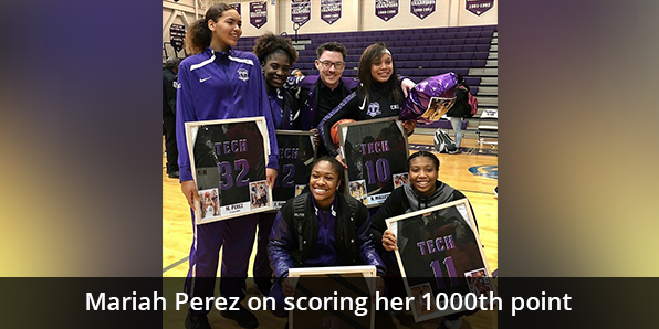 Mariah Perez on scoring her 1000th point