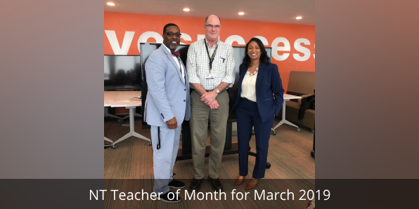 NT Teacher of Month for March 2019